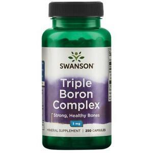 Boron 250 Capsules Triple Complex 3mg Bones Support Swanson