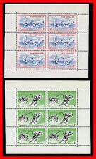 NEW ZEALAND 1957 HEALTH / SPORTS x2 M/S SC#B52-53a MNH CV$14.50 SPORTS (E15-7)
