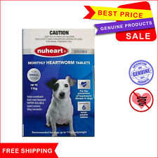 NUHEART 6 Tablets Heartworm treatment for Dog Up to 11 Kg Blue by Pharmachem
