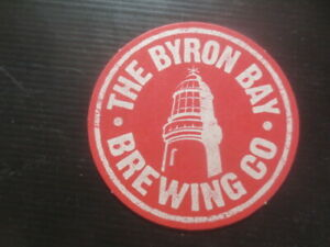 """1 only BYRON BAY Micro Brewery,New South Wales  BEER COASTER """"RED"""""""