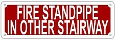 Fire Standpipe In Other Stairway Sign (Aluminium Reflective Signs,4x12)
