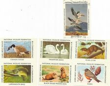 National Wildlife Federation Stamps for Christmas Sheet - 7 big stamps