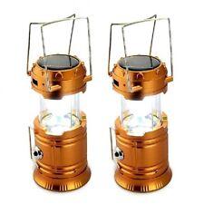 5800-T Rechargeable Solar Camping Lantern (Orange) Set of 2