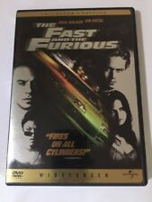 The Fast and the Furious (DVD, 2002) Wide Screen Collector's Edition
