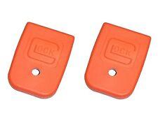 2 Pack Glock Orange Magazine Base Floor Plate for 10mm G20, G29 & .45 Auto G21