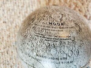 "Vintage Replogle 6"" Metal Lunar MOON GLOBE"
