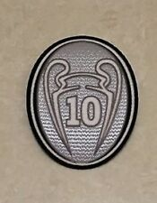 UEFA Champions League Trophy 10 Cup Patch Badge Parche For Real Madrid Jersey