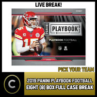 2019 PANINI PLAYBOOK FOOTBALL 8 BOX (FULL CASE) BREAK #F371 - PICK YOUR TEAM
