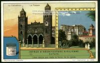 Architecture In Cefalu Sicily Italy 1920s Trade Ad Card
