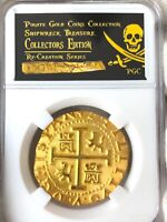 PERU 1708 8 ESCUDOS GOLD PLATED 1715 FLEET PIRATE GOLD COINS  SHIPWRECK TREASRUE