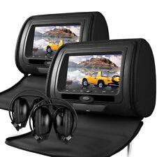 """Universal 7 """"leather-style Dvd Auto Poggiatesta con hd-screen / SD / USB BMW X3 / X5 / X6"""