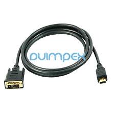 J15 3m HDMI macho a DVI cable adaptador alta velocidad FULL HD TV LCD portátil, PC