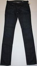 NWT Womens William Rast Jerri Rhine Stone Ultra Skinny Dark Wash Jeans Size 26