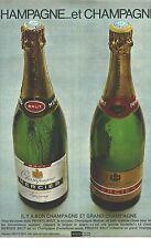 PUBLICITE 1967   MERCIER  champagne .. et Champagne