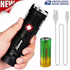 ZOOM XM-L2 U2 LED 3 Mode USB Rechargeable Flashlight Torch 26650 Battery USA
