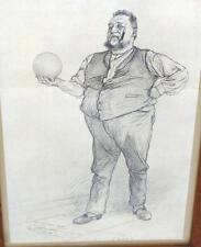 Lithographie signiert 1888 Christian Wilhelm Allers Hamburg Bowling B-14