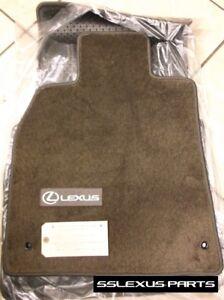 Lexus LS460L (2007-2012) (RWD /LongWheel Base) 4pc CARPET FLOOR MATS (Brown) OEM