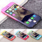 Hybrid 360° Hard Ultra thin Case+Tempered Glass Cover For iPhone 6 6s