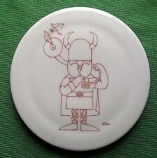 C1960 Modernista Bing And Grondahl Placa De Porcelana De Antoni-Viking Cuerno