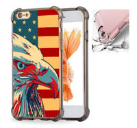 For iPhone X 6 6s 7 8 Case Cover American Patriotic Eagle Flag #7610