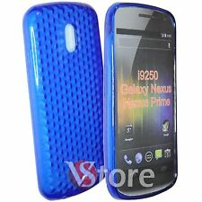 Cover For Samsung Galaxy Nexus Prime i9250 Blue Silicone Gel