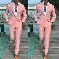 2019 Latest Design Summer Beach Men Pink Suits For Wedding Groom Best Man Tuxedo