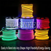 12V Flexible LED Strip Waterproof Sign Neon Lights Silicone Tube 1M-5M US STOCK
