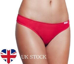 3/Pack -Thongs Bikini Panties 100% Cotton 💗High quality - Designed in Italy💗
