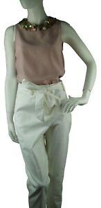 Boden Natalia Tie Trousers Gr.40 UK.14L  Hose Leinen Baumwolle Caprihose//0640