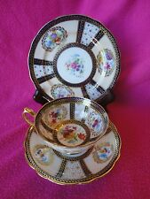 Paragon Trio Teacup & Saucer Set Reproduction of Service For Queen Mary Signed 1