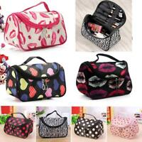 Portable Large Travel Organizer Toiletry Cosmetic Makeup Zip Case Bag Pouch