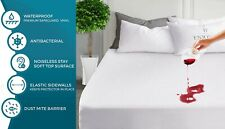 NEW WATERPROOF TERRY TOWEL MATTRESS PROTECTOR EXTRA DEEP FITTED SHEET NOISE FREE
