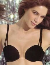 NWT Wonderbra Clearly Push Up BLACK 7571 34A Bra DEEP Plunge! RARE Discontinued!