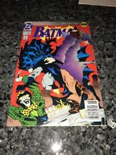 BATMAN #492 KNIGHTFALL PART 1 RARE NEWSSTAND VARIANT!!