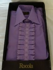 Vintage Rocola Lilac Evening Shirt 15 1/2