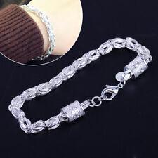 7mm Massives Silber Königsarmband Partei Armband Schmucksachen