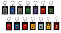 PERSONALISED SUPER HEROES KEYRING BAG TAG -  Adults / Kids - Great Gifts