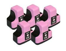 5 PK Ink Cartridges for HP02 Photosmart LIGHT MAGENTA C5180 C6180 D7160 C8180