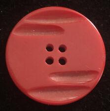 SINGLE VINTAGE CARVED RED BAKELITE BUTTON SKU115506P