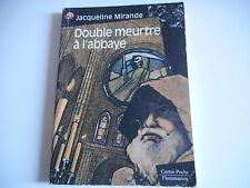DOUBLE MEURTRE A L'ABBAYE - JACQUELINE MIRANDA - CASTOR POCHE
