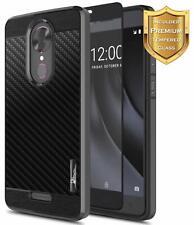 For T-Mobile REVVL PLUS Case Ultra Slim Shockproof Phone Cover + Tempered Glass