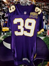 CARL LEE #39 MINNESOTA VIKINGS AUTOGRAHED GAME JERSEY SIZE 44 L