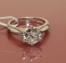 2 CT ROUND CUT DIAMOND SOLITAIRE ENGAGEMENT RING 14K WHITE GOLD ENHANCED 9.5