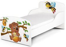 Cama Infantil de Madera 140/70 para niños colchón OSO Y ABEJAS - 102/248005