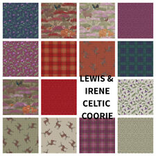 PATCHWORK/CRAFT FABRIC LEWIS & IRENE CELTIC COORIE SCOTTISH HIGHLAND DESIGNS