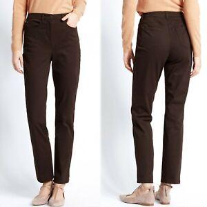 M&S Modern SLIM Leg JEANS ~ Size 12 ~ BROWN