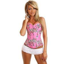 Daisy Pink Floral Fantasy Burlesque Corset