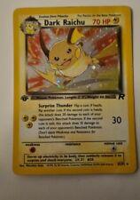 More details for 1st edition dark raichu 83/82 holo secret rare team rocket pokémon card