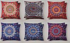 "5 PC Wholesale Lot Indian Mandala Tapestry Cushion Cover Ethnic Pillow Sham 18"""
