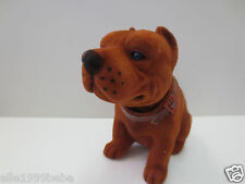 Pit Bull Dog  / Mahogany Bobbing Head Dog /  Bobble Head Toy